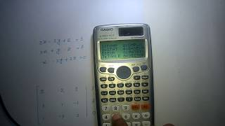 Gauss–Jordan elimination in casio fx 991ES Calculator