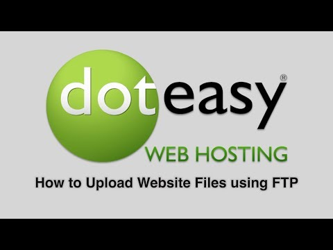 How to upload website files using FTP