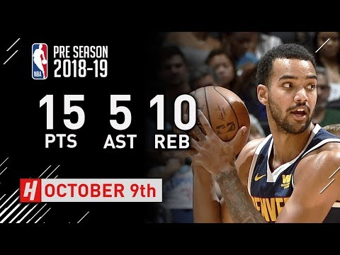 Trey Lyles Full Highlights Nuggets vs Clippers - 2018.10.09 - 15 Pts, 5 Ast, 10 Reb!