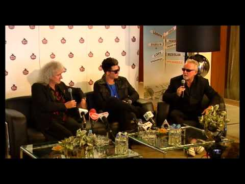 Queen and Adam Lambert Wroclaw Press Conference