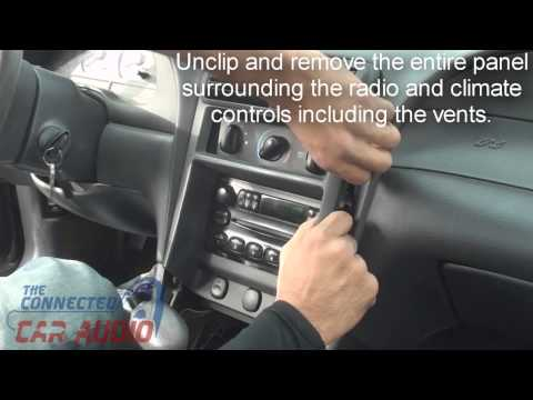How to remove factory stereo ford mustang 2001-2004