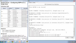 Packet Tracer 8.2.2.7 - Configuring OSPFv2 in a Single Area Instructions - CCNA 2 - Chapter 8