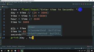 How to Convert seconds to day, hour, minutes and seconds in Python