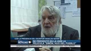 Presentaron la película Simón Hijo del Pueblo   Armando Minguzzi y Osvaldo Bayer 2