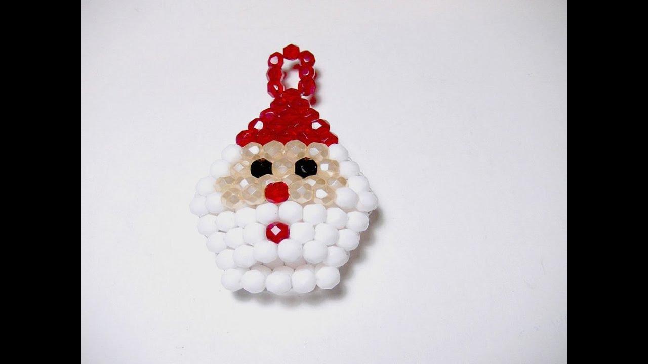 Abalorios manualidades papa noel para arbol de navidad - Como hacer cosas de navidad ...