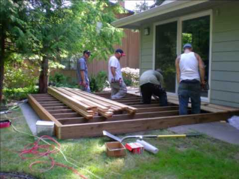 Bill and his crew build a deck - YouTube