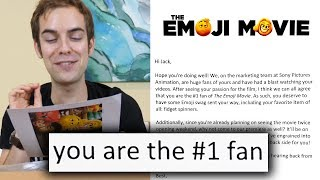 I got invited to the world premiere of The Emoji Movie by : jacksfilms