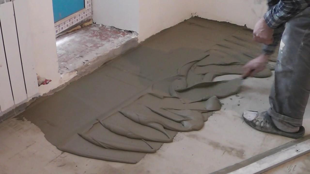 Чем залить пол в квартире своими руками быстро и надежно