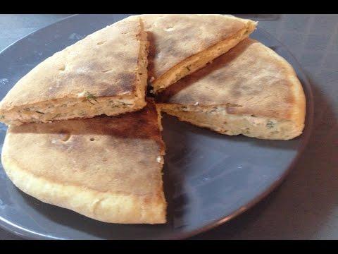 быстрые плацинды  с творогом сыром и укропом на кефире