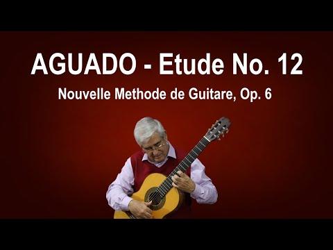 Dionisio Aguado - Etude N 12 Metodo De Guitarra - First Part
