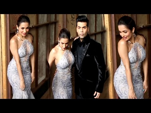 Hot Malaika Arora in Strapless transparent Gown at India