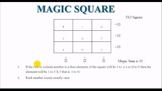 Magic Square in C programming