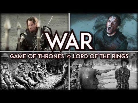 War In Fantasy Game Of Thrones Vs Lord Of Rings
