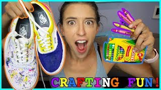 Making Crayon Shoes!