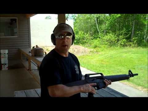 Test firing the MKA 1919, AR-15 style 12 guage shotgun.  Day 1
