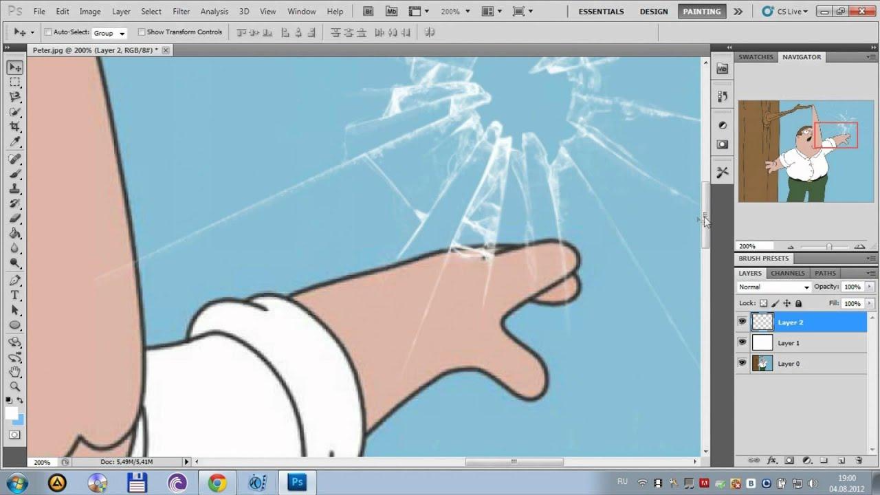 Как фшопе сделать стеклянный текст