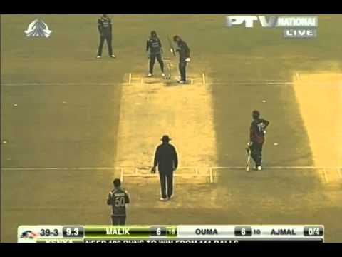 Saeed ajmal in action vs Kenya