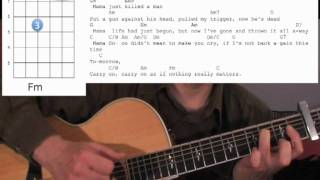 Queen Bohemian Rhapsody Rhythm Guitar Tutorial Lesson