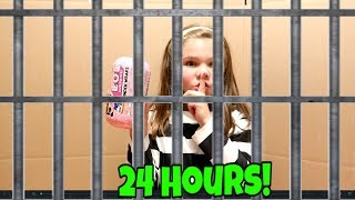 Box Fort Jail For 24 Hours! With No LOL Dolls and No Electronics and No Slime