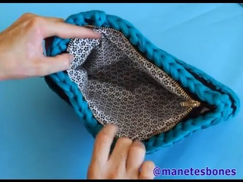 C mo forrar un bolso de trapillo tutorial diy youtube for Tutoriales de trapillo