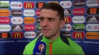 Italy v Republic of Ireland - Post Match Interview - Robbie Brady (22/6/16)