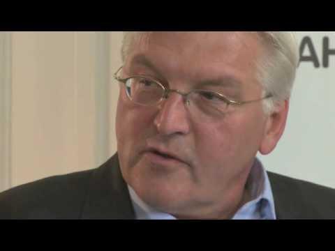 Frank-Walter Steinmeier im MyVideo-Chat