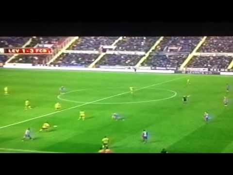 INCREIBLE GOL DE TELLO ASISTENCIA DE MESSI,    LEVANTE VS BARCELONA.1-4 (Copa Del Rey) HD