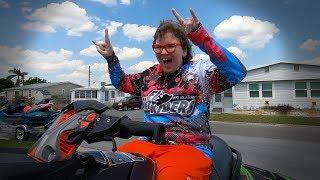 Jaime's first time on a supercharged Jet Ski, Jamie FLSR loves you!!