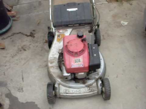Trash find Honda HR214 commercial self propelled elec. start mower