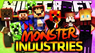 HARDCORE MODE! - Minecraft MONSTER INDUSTRIES with The Pack
