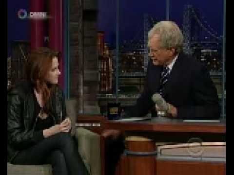Kristen Stewart on Late Show David Letterman Nov 20 2008