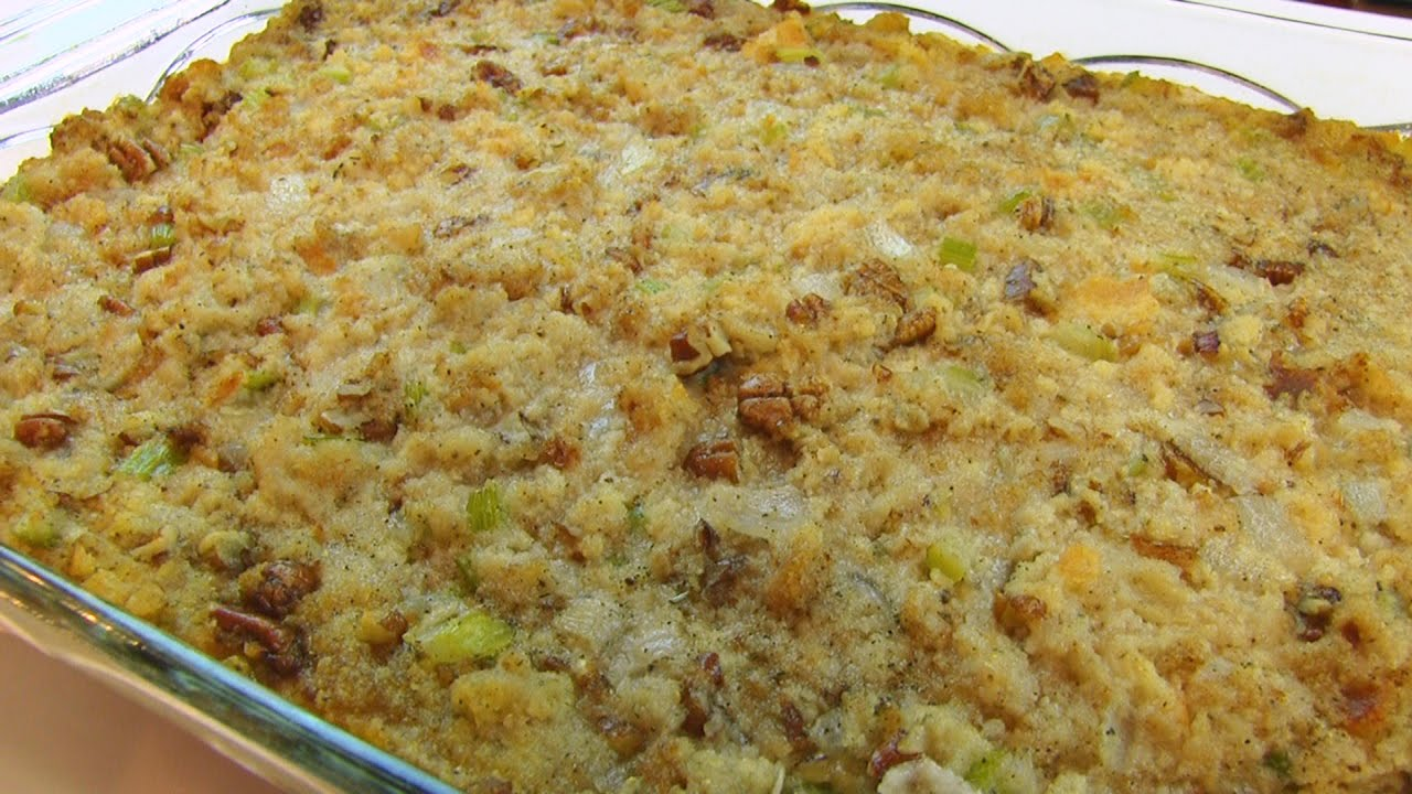 Betty's Pecan-Sage Cornbread Dressing -- Thanksgiving - YouTube