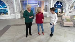 Belle by Kim Gravel TripleLuxe Embellished Keyhole Top on QVC