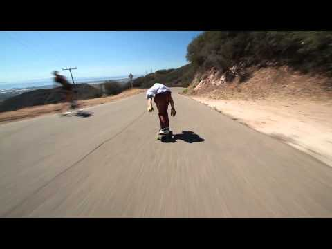 SantaGnarbara: Downhill DoubleKick w/ Tom