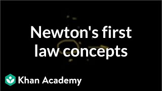 Newton's first law of motion concepts | Physics | Khan Academy