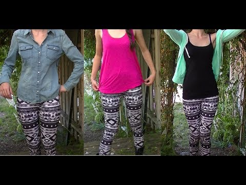 3ways to Style Tribal Print leggings  | Brittany Gorman