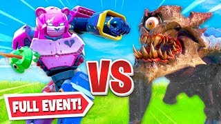 the *LIVE* MONSTER vs ROBOT event in Fortnite!