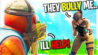 He Was Bullied For Being A Default, So I Gave Him 10,000 VBUCKS... (Fortnite)