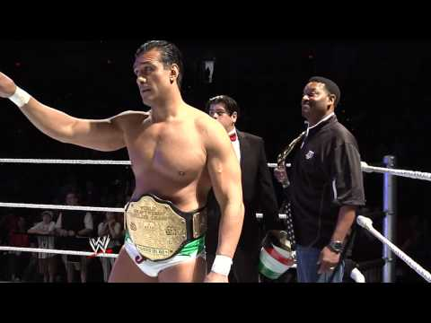 Alberto Del Rio presents Texas A&M football coach Kevin Sumlin with a World Heavyweight Championship
