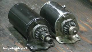 How to replace a starter gear on Briggs and Stratton Starters (both rollpin and C clip type)
