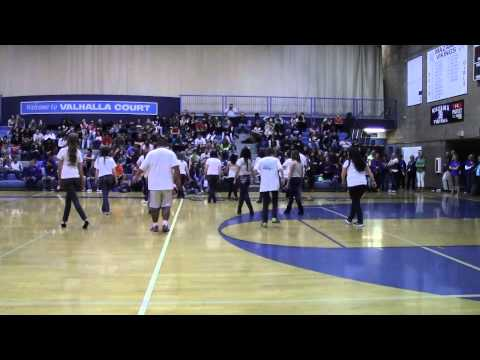 """Mazama High School dance class performs """"Orange-colored Sky"""" at Assembly 2014"""