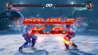 Tekken 7 - Double K.O. using Rage Arts (All Characters)