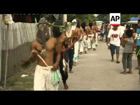 Devotees mark Good Friday with flagellation and crucifixion