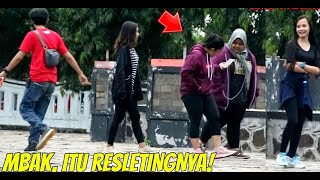 MBAK ITU RESLETINGNYA! Epic Reaction.. Part2 | Prank Indonesia