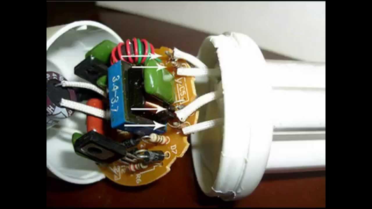 Энергосберегающие лампы ремонт видео