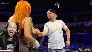 WWE Smackdown 5/2/17 Becky Lynch Trolls the Group