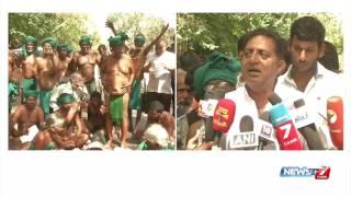 Prakash Raj's speech at TN farmer's protest in Delhi | News7 Tamil