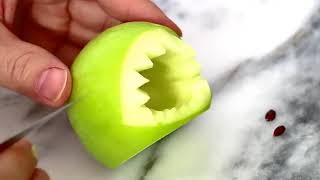 Apple Baby Shark Creative - Food Fun Food For Kids - Fruit Vegetable Carving