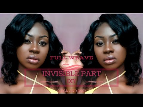 QUICK AND EASY FULL WEAVE SEW IN WITH AN INVISIBLE PART  BEAUTY FOREVER HAIR
