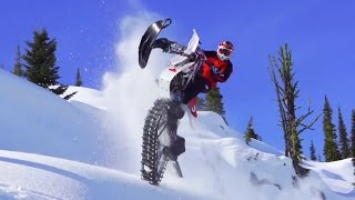 Ronnie Renner Snow Biking in Idaho Backcountry